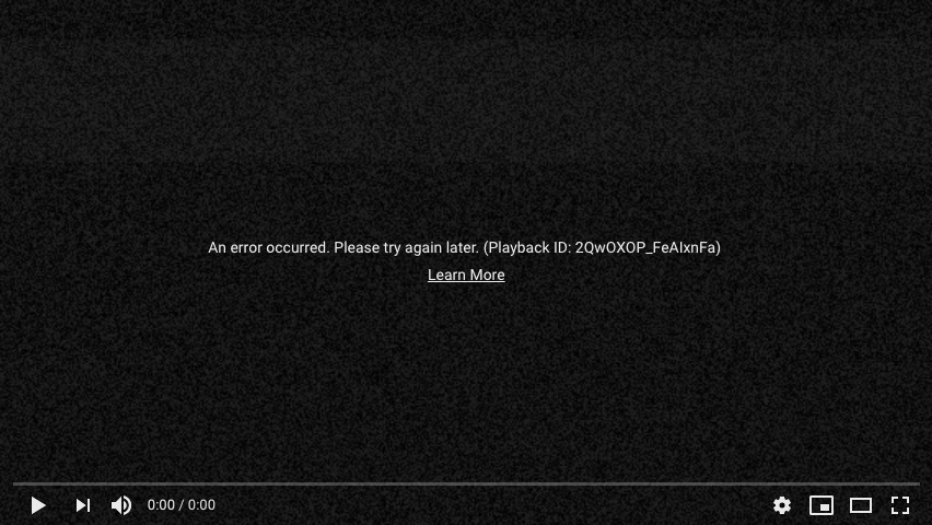 Error 503 de YouTube
