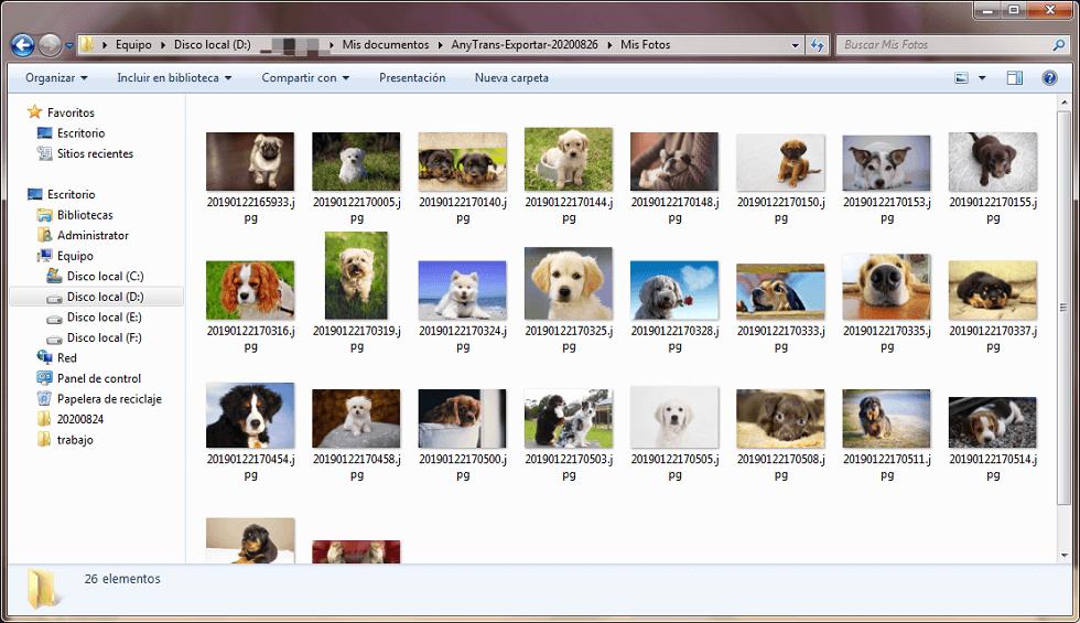 Ya las fotos están en tu ordenador