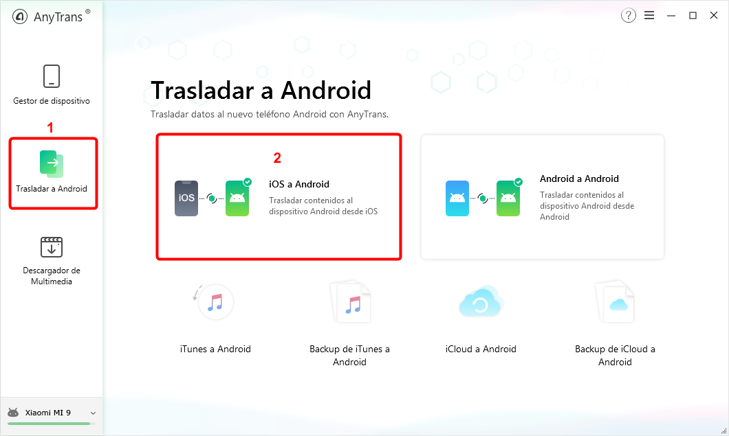 Elige iOS a Android