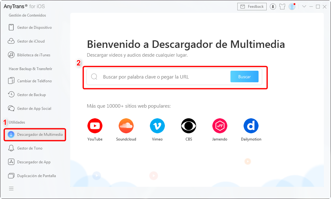 Descargador de Multimedia