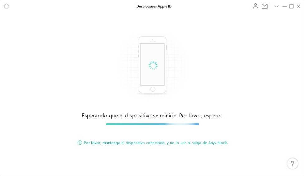 AnyUnlock está eliminando Apple ID