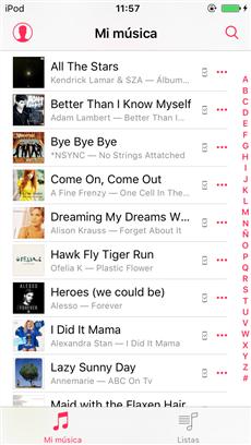Ya las canciones están en tu iPod