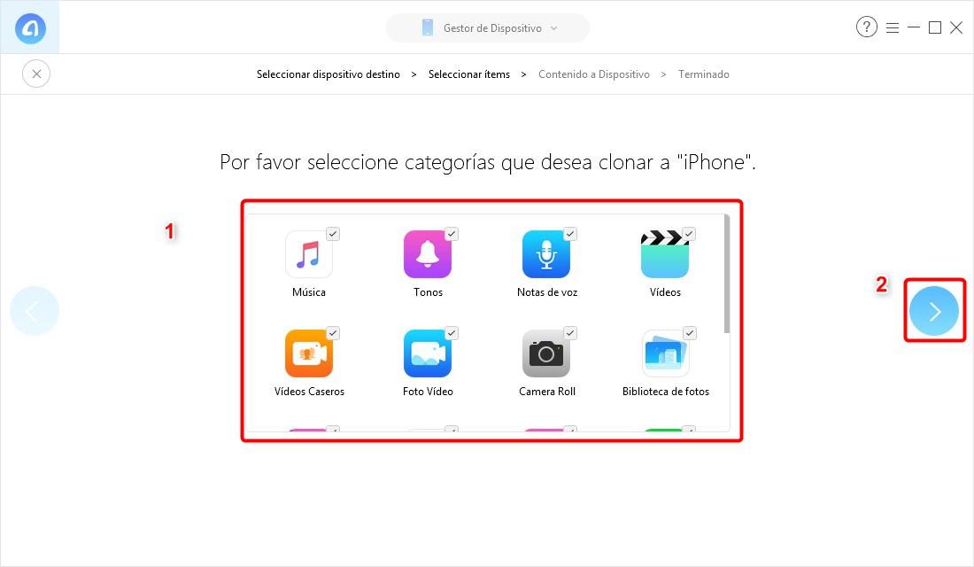 Pasar contenido del antiguo iPhone al iPhone XR / XS / XS Max