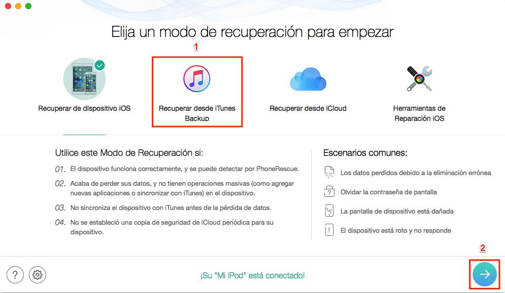 Cómo ver copia de seguridad iPhone en iTunes - Paso 1
