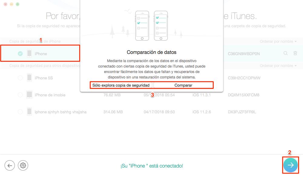 Cómo ver copia de seguridad iPhone en iTunes - Paso 2
