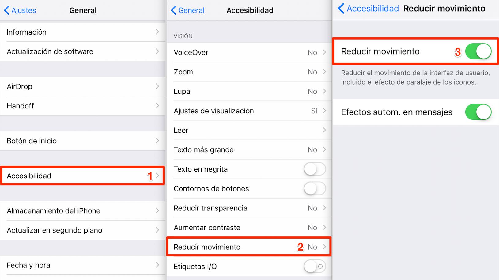 Cómo cuidar la batería del iPhone – Reducir movimiento