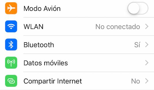 Ahorrar batería iPhone - Desactiva la conexión de red