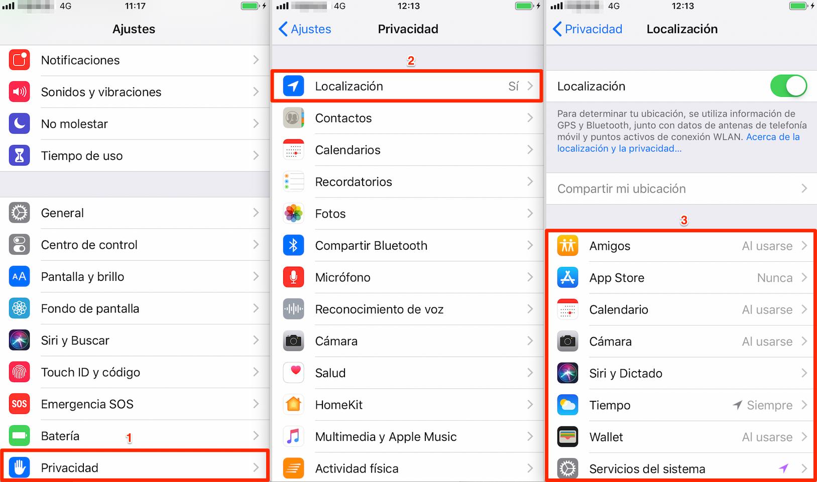 Cómo cuidar la batería del iPhone – Prohibir el uso de Localización