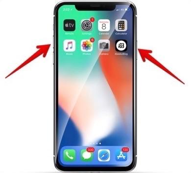 Apagar el iPhone XS Max con botones - Paso 1