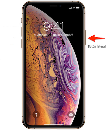 Cómo encender el iPhone XS/XS Max