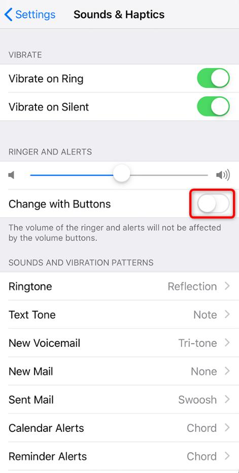 Cómo cambiar el volumen del timbre en iPhone 7/ 8/ X/ XR/ XS (Max) - Paso 2
