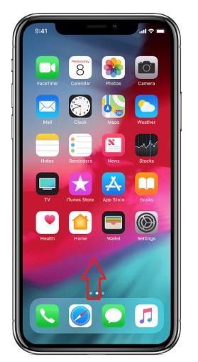 Cómo cerrar aplicaciones en iPhone XS Max/XS/XR/X - Paso 1