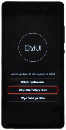 Cómo desbloquear un Huawei - Restablecimiento de fábrica
