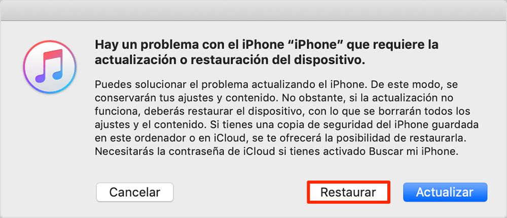 Cómo desbloquear iPhone 6 con iTunes