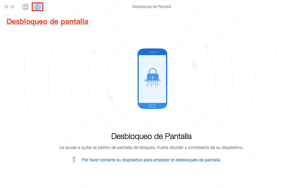 Cómo desbloquear un celular Samsung con patrón - Paso 1