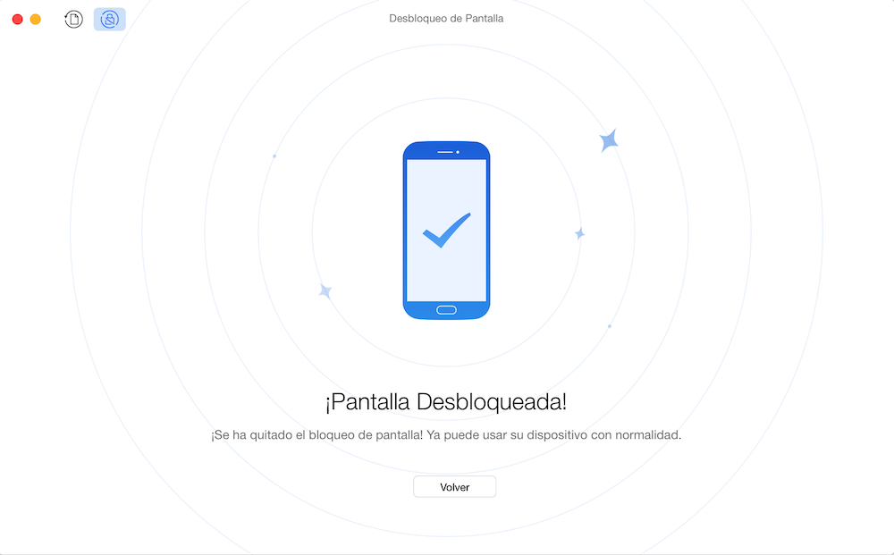 Cómo desbloquear un celular con patrón Samsung - Paso 3