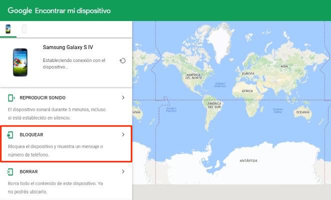 Cómo desbloquear un teléfono Samsung con Google Encontrar mi dispositivo - Paso 2