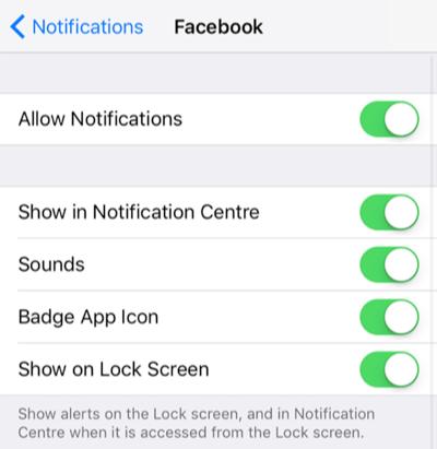 Deshacerse de la notificación molestada en iOS 12 / 12.1