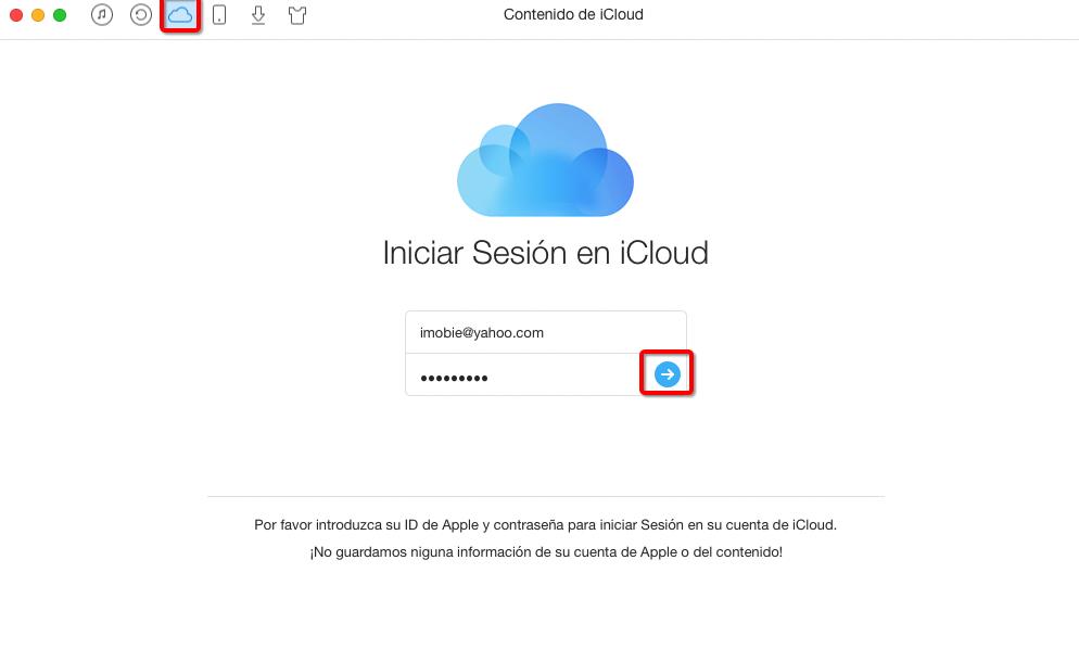 Cómo exportar contactos de iCloud con AnyTrans – Paso 2