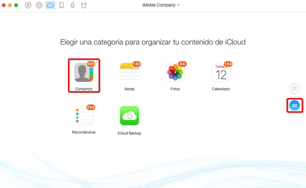 Cómo exportar contactos de iCloud con AnyTrans – Paso 3