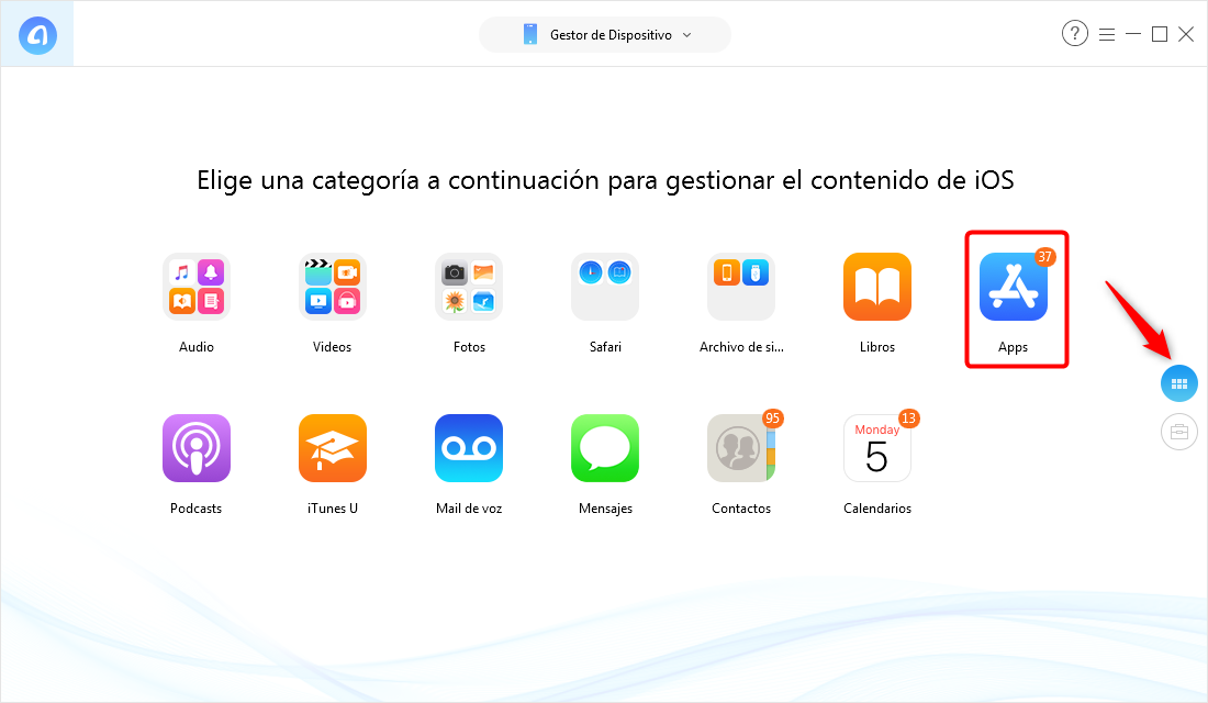 Cómo hacer copia de seguridad de Apps de iPhone sin iTunes - Paso 1