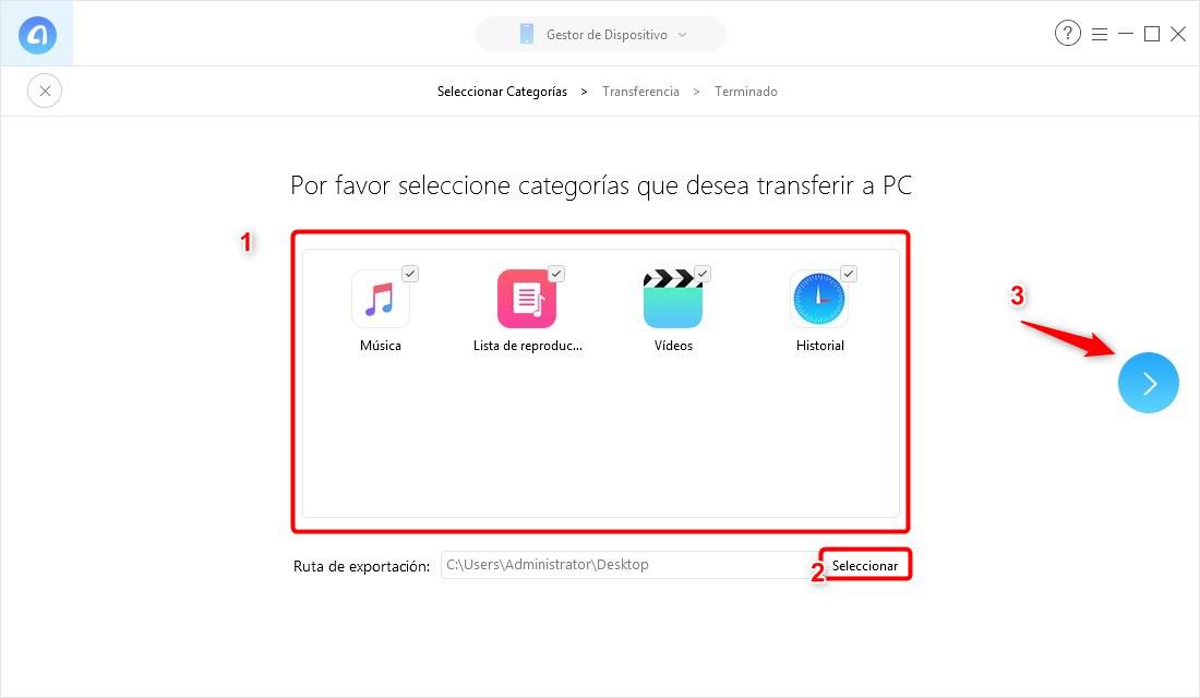 Cómo guardar todos los datos de iPhone en 1 clic con AnyTrans