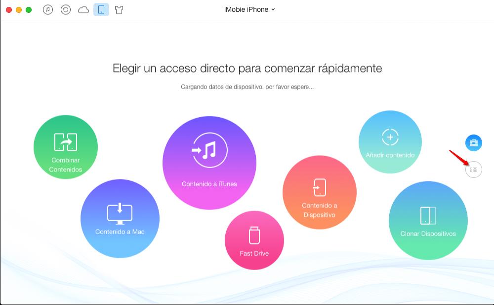 Hacer una copia de mensajes de texto de iPhone en Mac – Paso 1