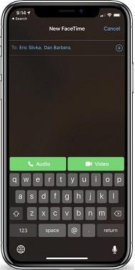 Hacer FaceTime grupal desde la App FaceTime - Paso 3