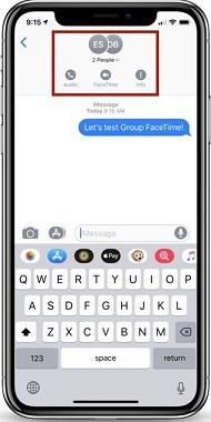 Hacer FaceTime grupal en App Mensajes - Paso 2