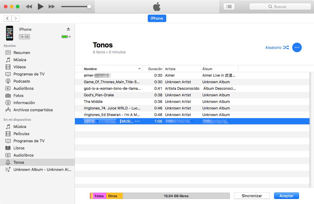 Cómo hacer un ringtone para iPhone con iTunes - Paso 3