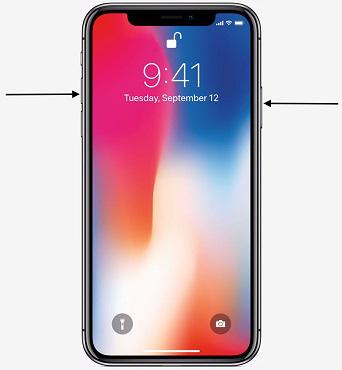 Toma una captura de pantalla en el iPhone XR, XS y iPhone XS Max con los botones