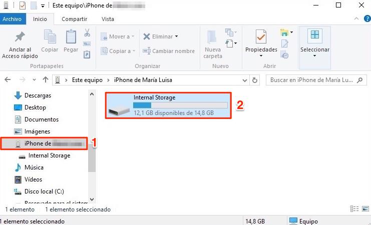 Cómo importar fotos de iPhone a PC con el Explorador de Windows - Paso 1