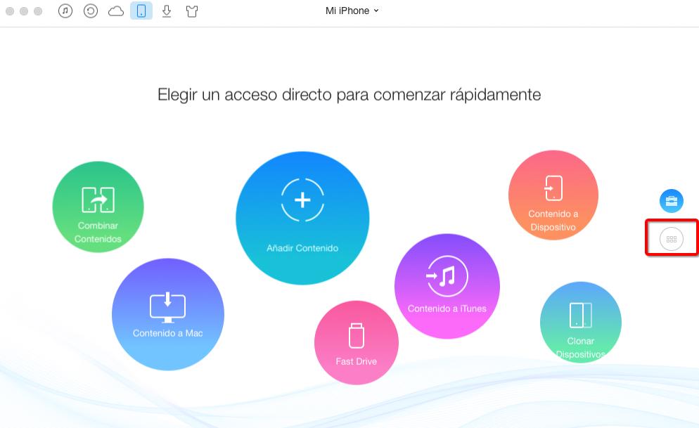Importar fotos del iPhone al PC con AnyTrans – Paso 2