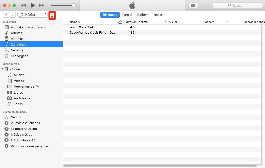 ( Alt: Cómo meter música en el iPhone- paso 2)