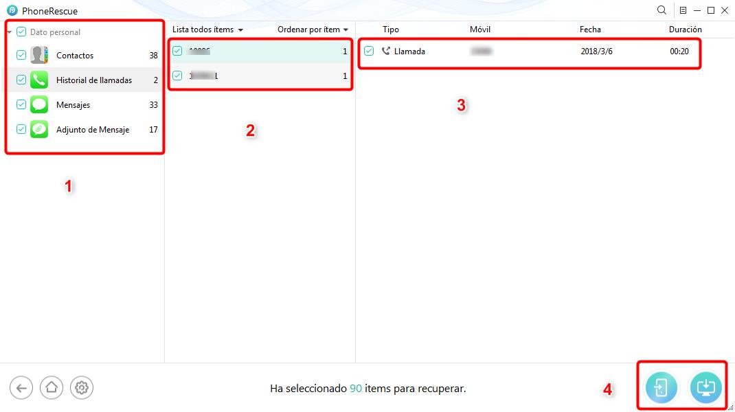 Cómo recuperar los datos del iPhone roto directamente - Paso 3