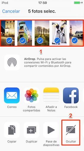 Cómo ocultar fotos en iPhone