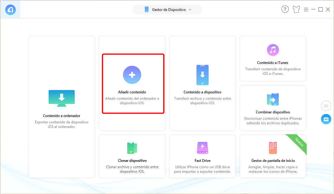 Pasar datos de ordenador a nuevo iPad Pro - Paso 1