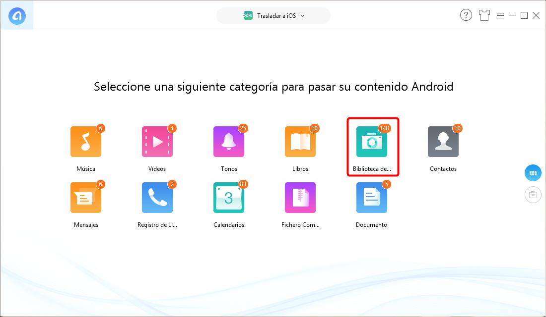 Pasar datos de Android a nuevo iPad Pro - Paso 2