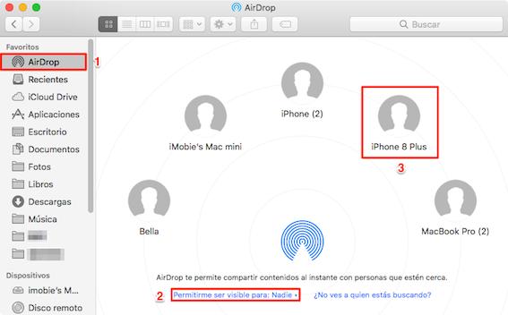 Cómo AirDrop Music de al iPhone - Paso 3