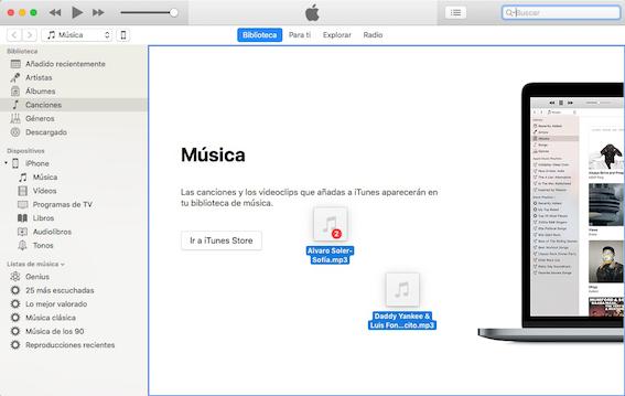 Cómo pasar música al iPhone con iTunes - Paso 2