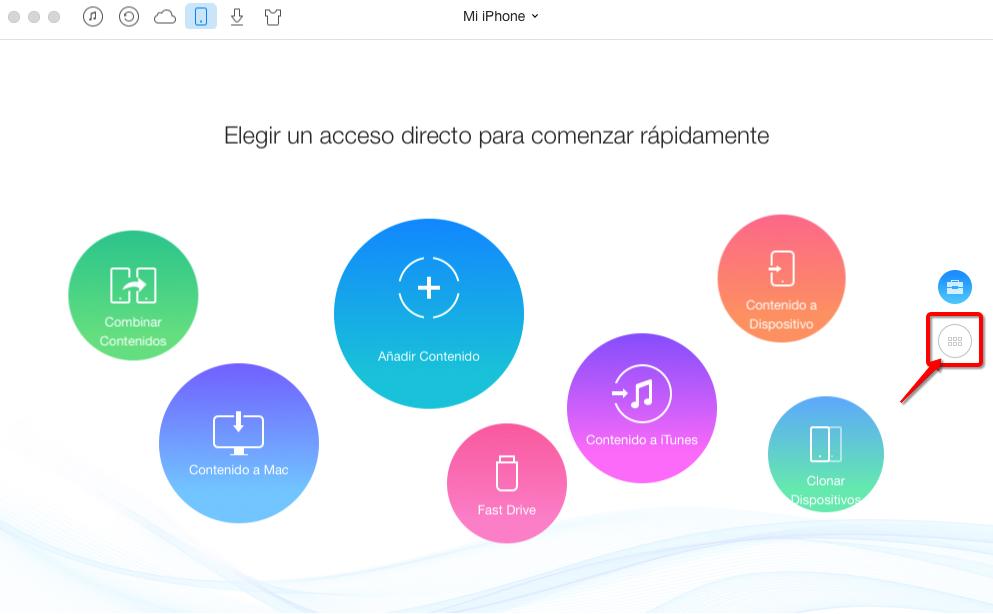 Cómo pasar vídeo del iPhone al ordenador con AnyTrans – Paso 2