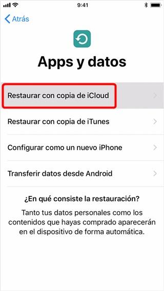 Cómo recuperar fotos de iPhone desde iCloud - Paso 3