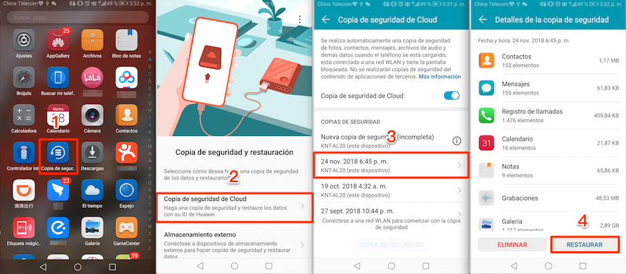 Cómo recuperar fotos de Snapchat en Android desde la nube