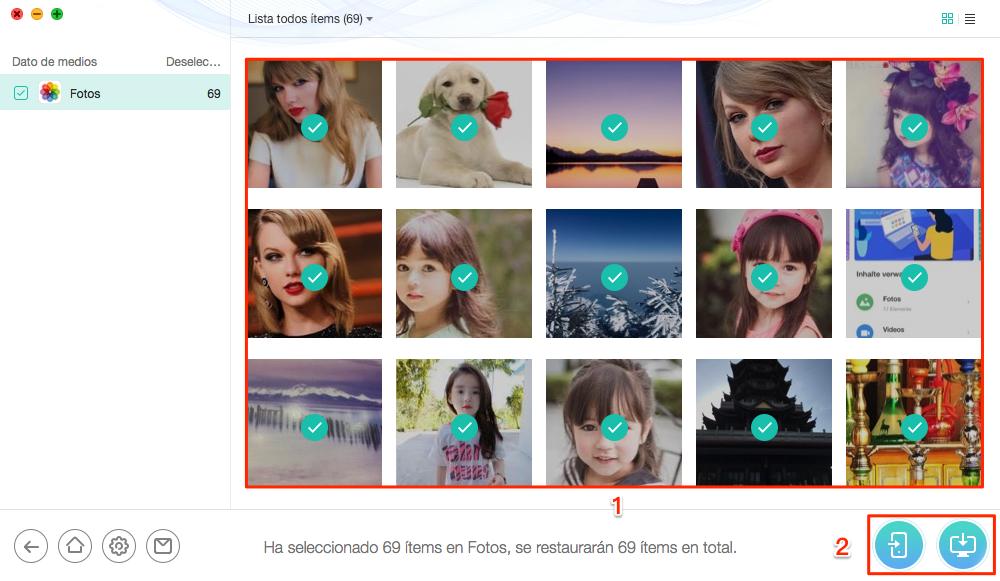 Recuperar fotos a tu computadora o dispositivo iOS - Paso 3