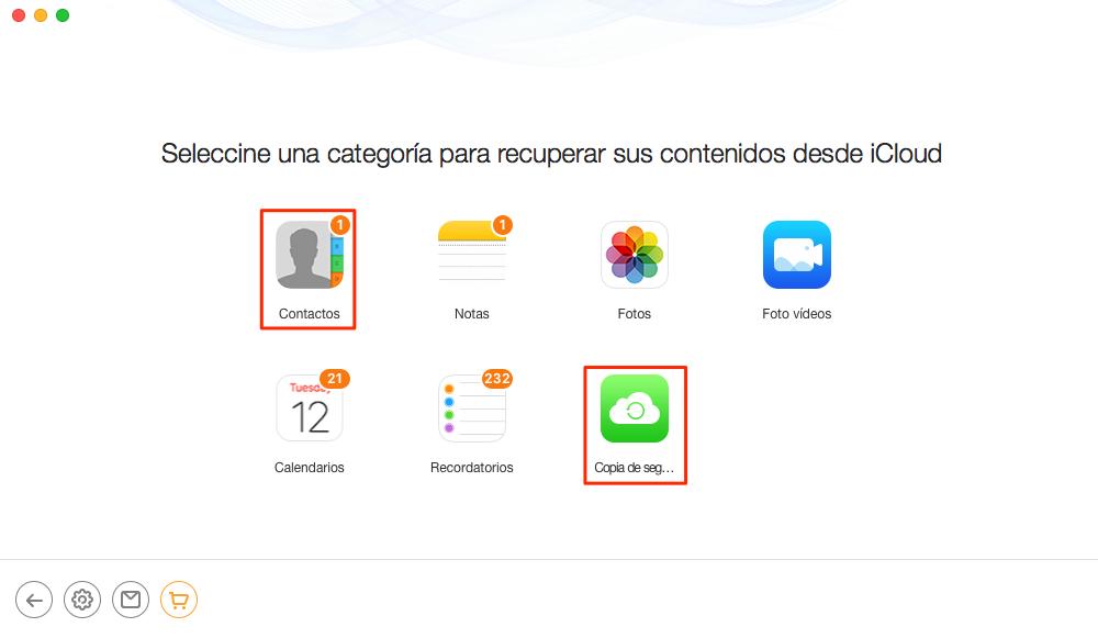 Recuperar contactos iPhone iCloud - Paso 3