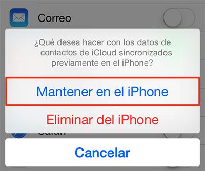 Recuperar contactos iPhone - Paso 2