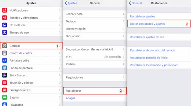 Recuperar contactos iCloud - Paso 2