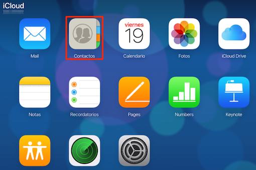 Recuperar contactos iPhone desde iCloud - Paso 1
