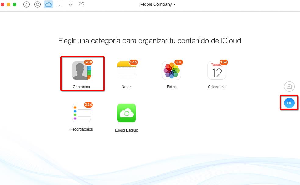 Cómo recuperar los contactos de iCloud con AnyTrnas – Paso 4