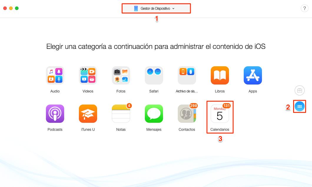 Cómo sincronizar calendario iPhone con iPad en 1 clic - Paso 2